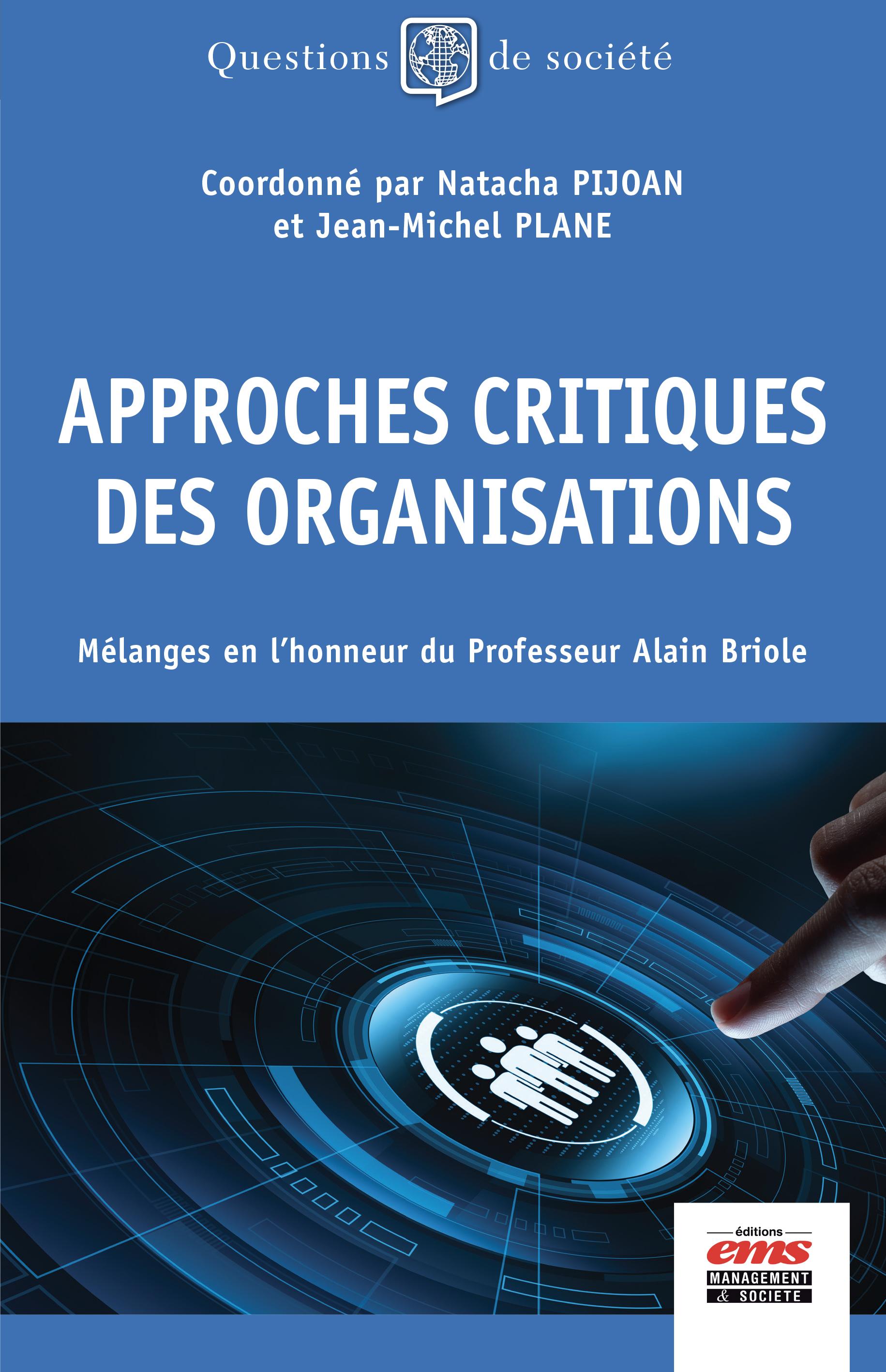 Vignette du livre Approches critiques des organisations