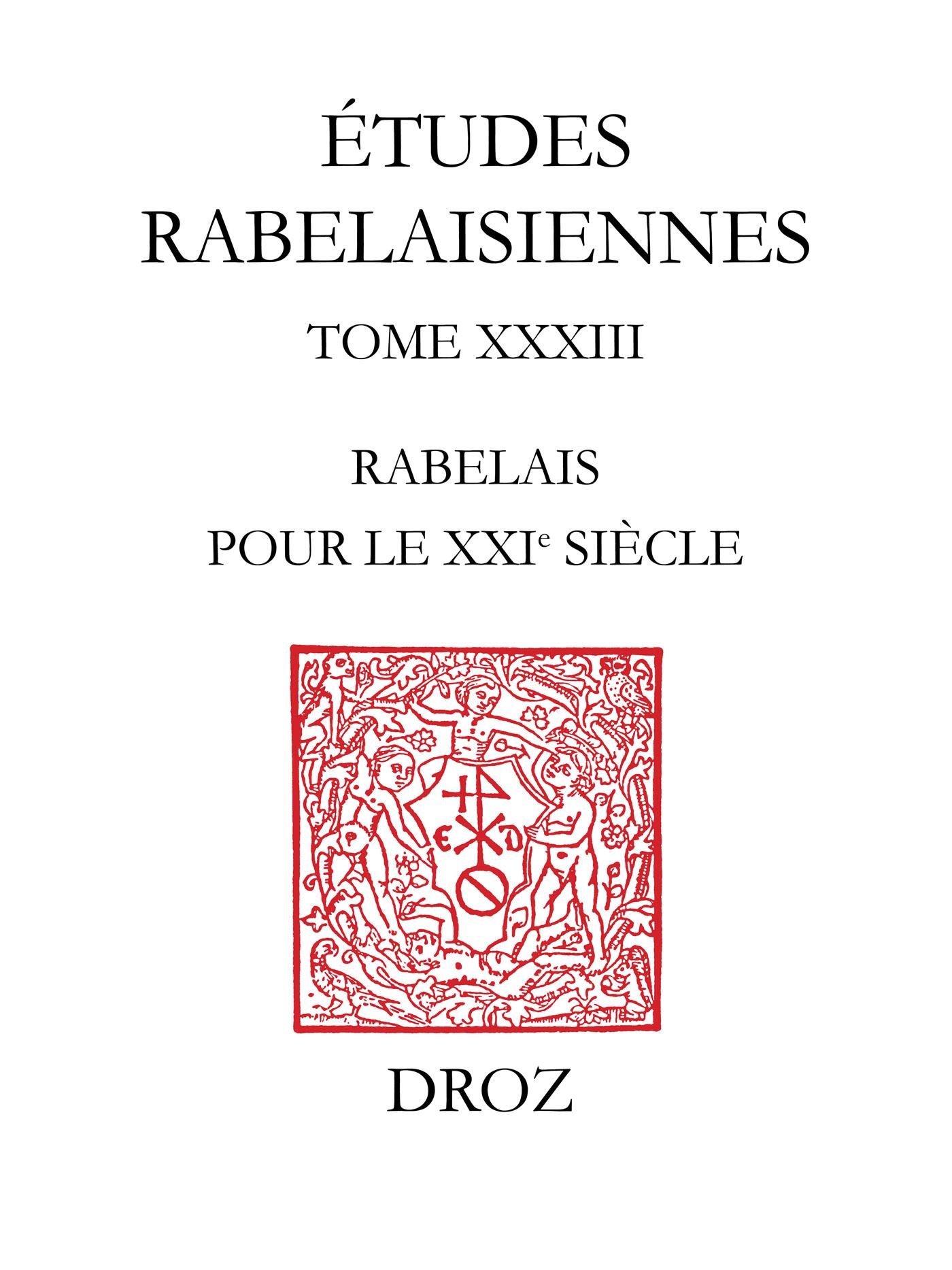 Vignette du livre Rabelais pour le XXIe siècle