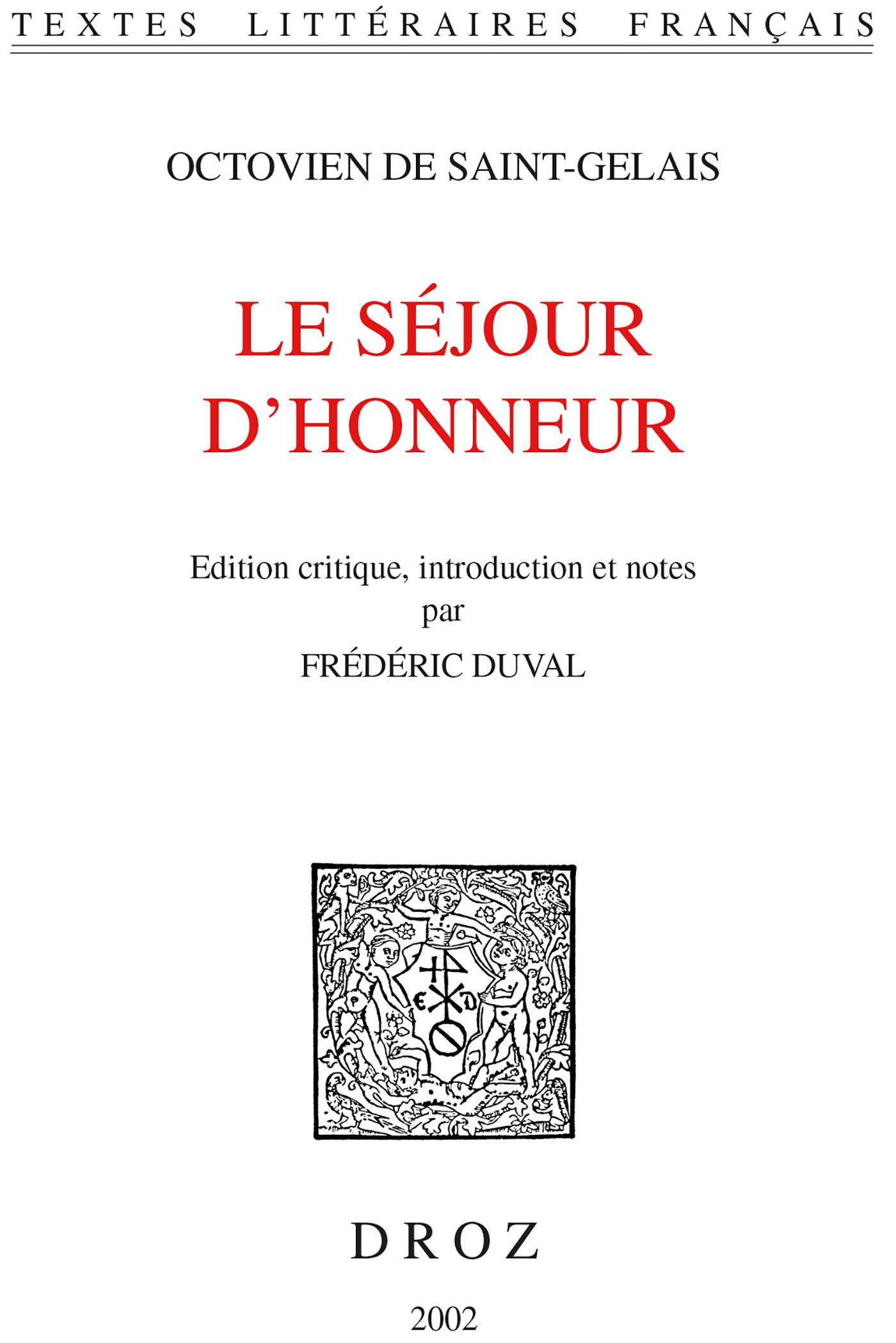 Vignette du livre Le Séjour d'honneur