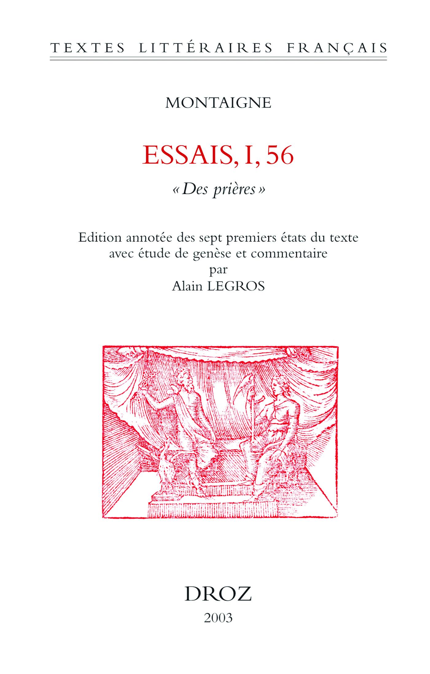 """Vignette du livre Essais. I, 56 : """"Des Prières"""""""