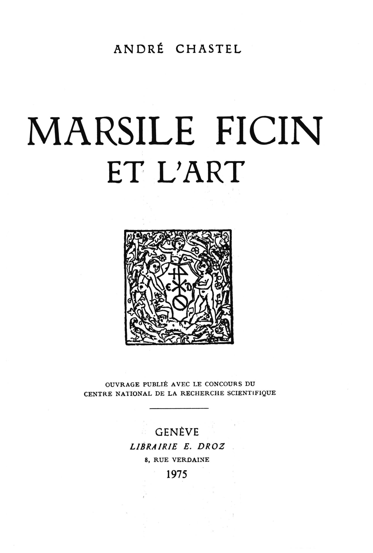 Vignette du livre Marsile Ficin et l'art