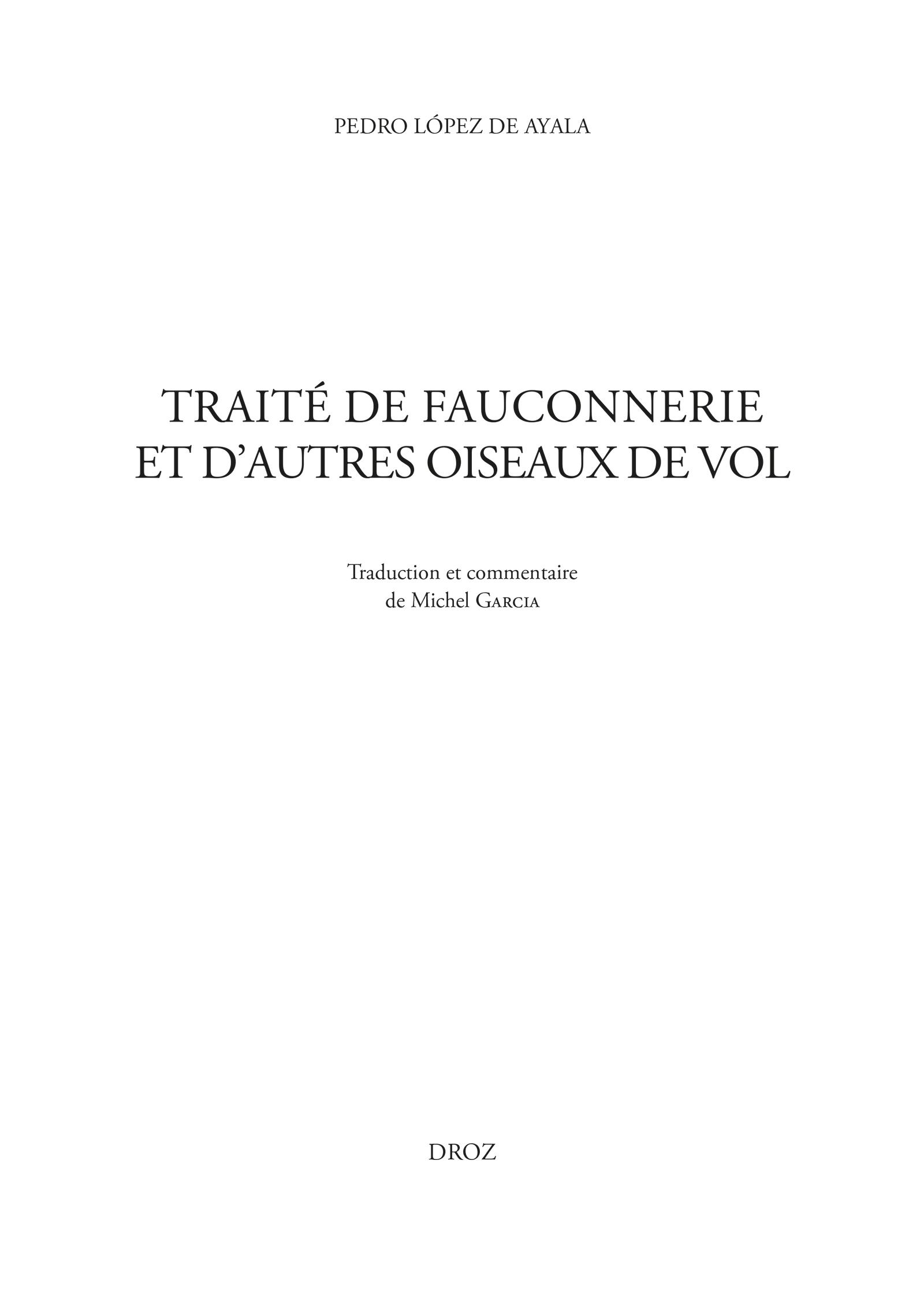 Vignette du livre Traité de fauconnerie et d'autres oiseaux de vol